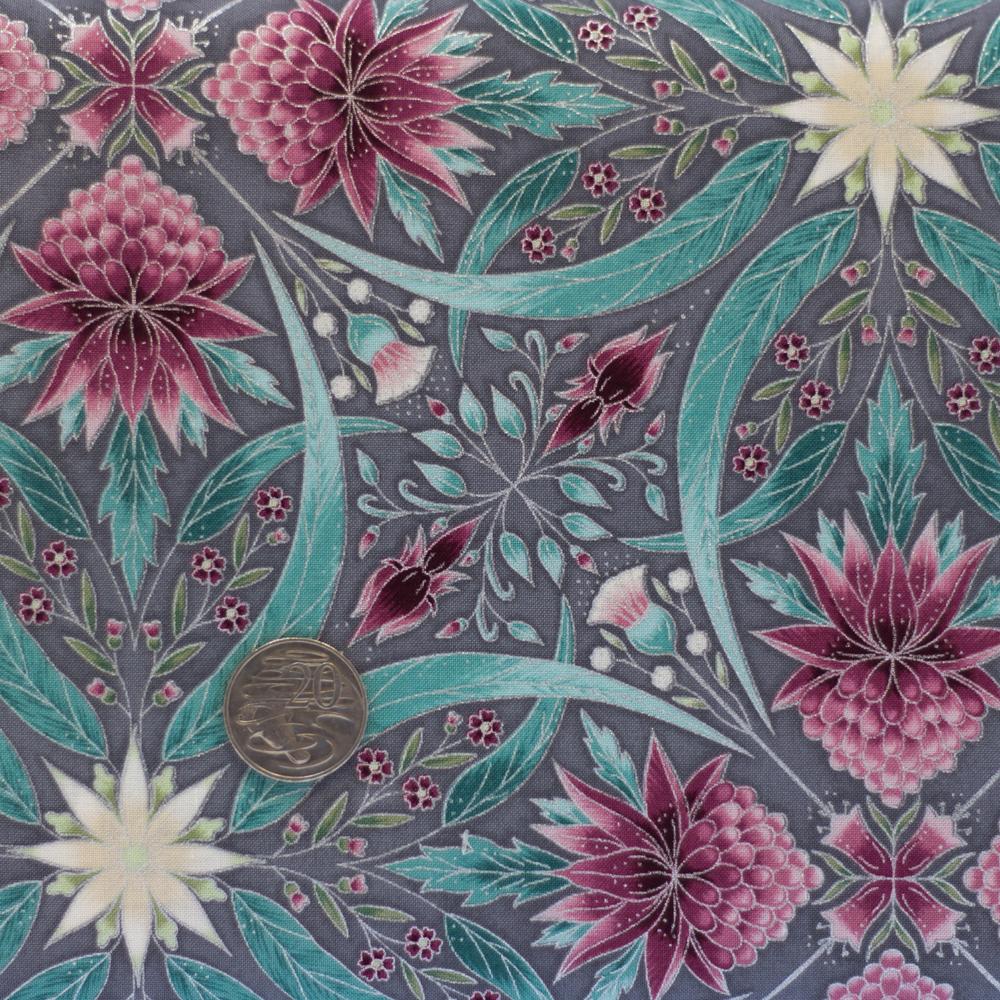 Melba Nouveau Kaleidoscope Grey Pink Layered Creations