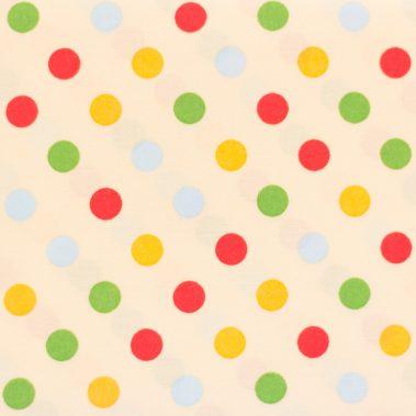 Multi-Coloured Spots - Cream