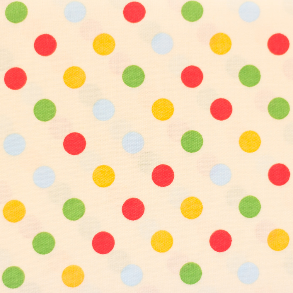 Multi-Coloured Spots - Cream