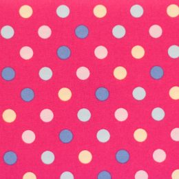 Multi-Coloured Spots - Hot Pink