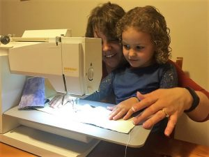 Sewing with M - A Guiding Hand