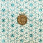 Wagon Wheels - Jade with coin
