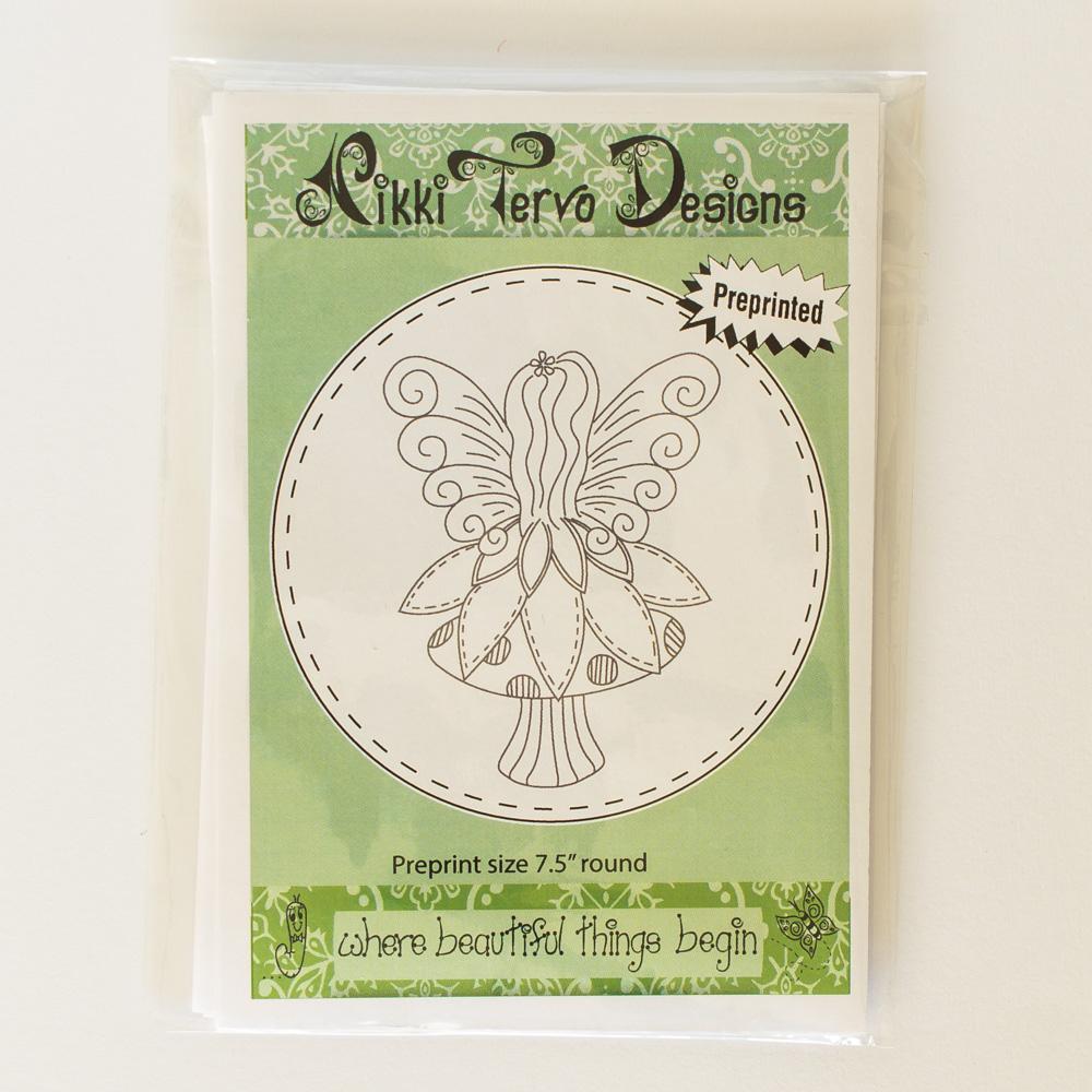 NTD Stitchery - Fairy Sitting on Mushroom