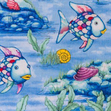 Fish and Rocks - Light Blue 2