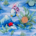 Fish and Rocks - Light Blue with Coin 1