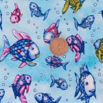 Swimming Fish - Light Blue with Coin
