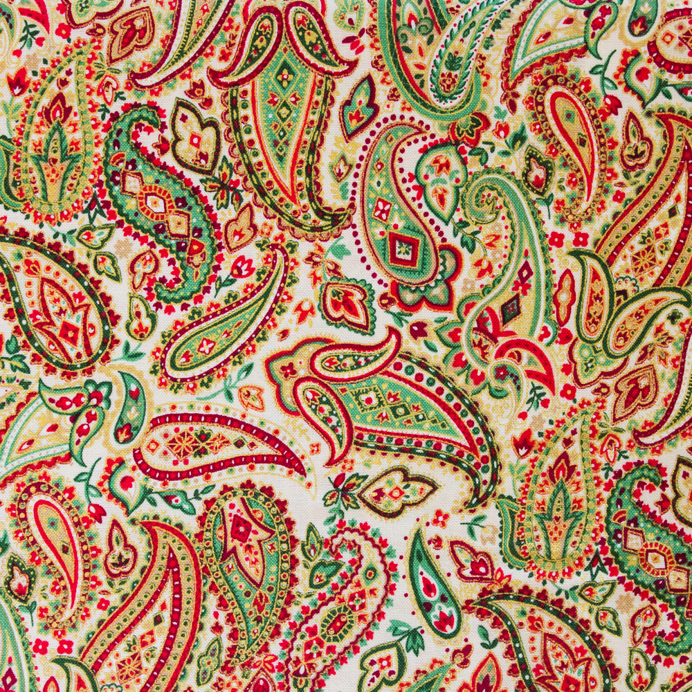 Christmas Paisley - Cream