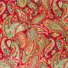 Christmas Paisley - Red with coin