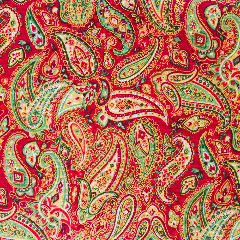 Christmas Paisley - Red