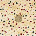 Metallic Stars - Beige with coin