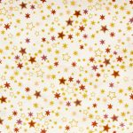 Metallic Stars - Cream