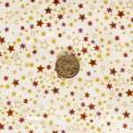 Metallic Stars - Cream with coin