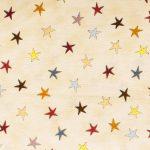 Wonky Stars - Cream