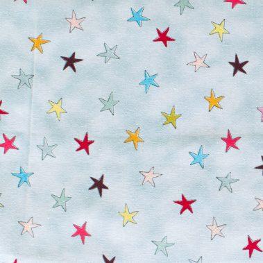 Wonky Stars - Light Blue