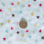 Wonky Stars - Light Blue with coin
