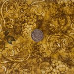 Grapes & Scroll - Amber with coin