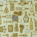 Wine Toile - Amber with coin