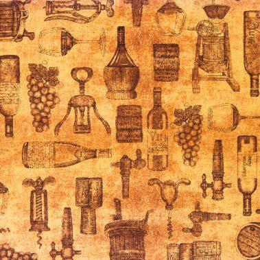 Wine Toile - Rust