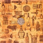 Wine Toile - Rust with coin