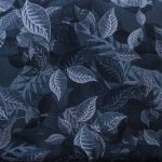 Small Overlapping Leaves - Black