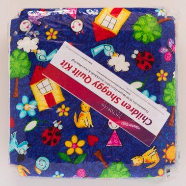 Backyard Fun Shaggy Quilt Kit - Front