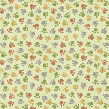Paw Prints - Lt Green