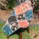 Shaggy quilt on chair