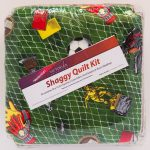 Soccer Shaggy Quilt Kit - Front