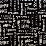 Glow in the Dark - Spooky Words