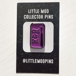 Ctrl Alt Del Pin - Purple
