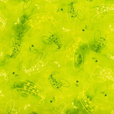 Musical Notes - Green