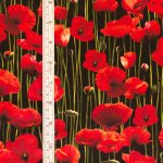 Poppies - Black with tape