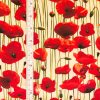 Poppies - Cream with tape