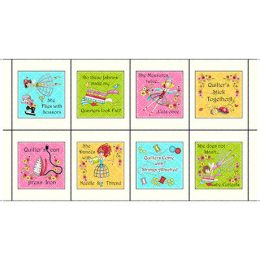 Sewing Phrases Patches - Cream - 26423-E