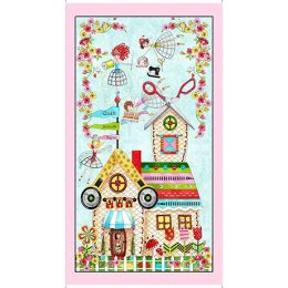 The Quilted Cottage Panel - 26422-X