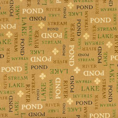 Waterways Words - Cream