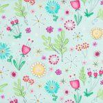 Multicolour Floral - Blue