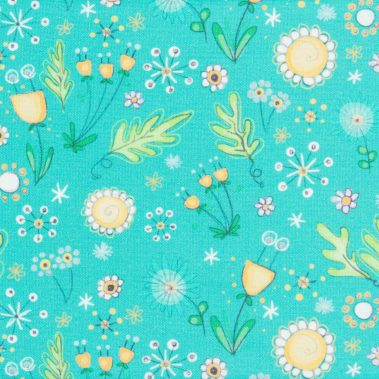 Multicolour Floral - Teal