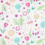 Multicolour Floral - White