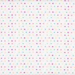 Multicolour Spots - White