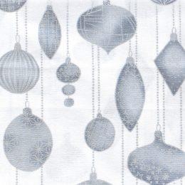 Metallic Christmas Ornaments - White