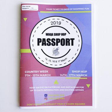 WAQA 2019 Shop Hop Passport