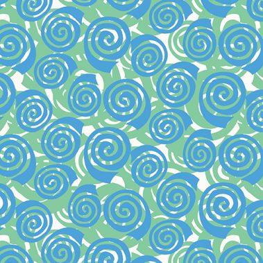 Blooming Roses - Green-Aqua
