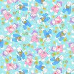 Tossed Bunnies - Blue