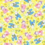 Tossed Bunnies - Yellow