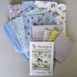 Baby Safari Cot Quilt Kit - Blue