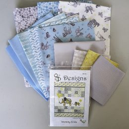 Baby Safari Cot Quilt Kit - Blue