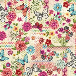 Butterfly Dreams Patchwork - Cream