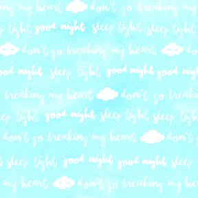 Goodnight Words - Light Aqua