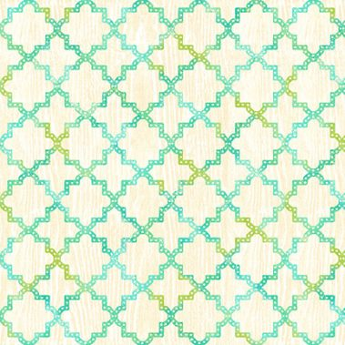 Quadrafoil - Cream_Blue_Green